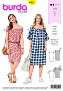 6422 Burda Pattern: Ladies Dress